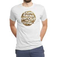 Stupid raisins, stay out of my cookies - mens-triblend-tee - small view