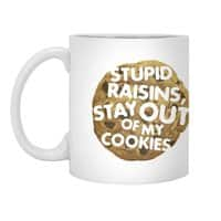 Stupid raisins, stay out of my cookies - white-mug - small view