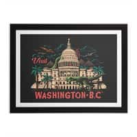 Washington B.C. - black-horizontal-framed-print - small view