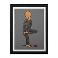 The Scream Of Pain! - black-vertical-framed-print - small view