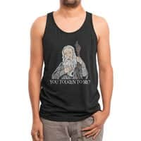 Gandalf the Gangsta - mens-triblend-tank - small view
