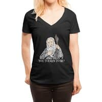 Gandalf the Gangsta - womens-deep-v-neck - small view