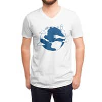 Blue Dot - vneck - small view