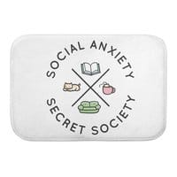Social Anxiety Secret Society - bath-mat - small view