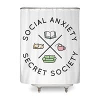 Social Anxiety Secret Society - shower-curtain - small view