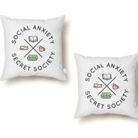 Social Anxiety Secret Society - throw-pillow - small view