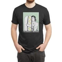 I married a hotdog - mens-triblend-tee - small view