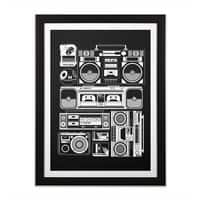 Radios - black-vertical-framed-print - small view