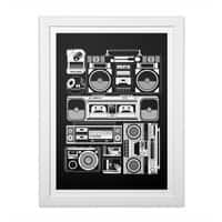 Radios - white-vertical-framed-print - small view