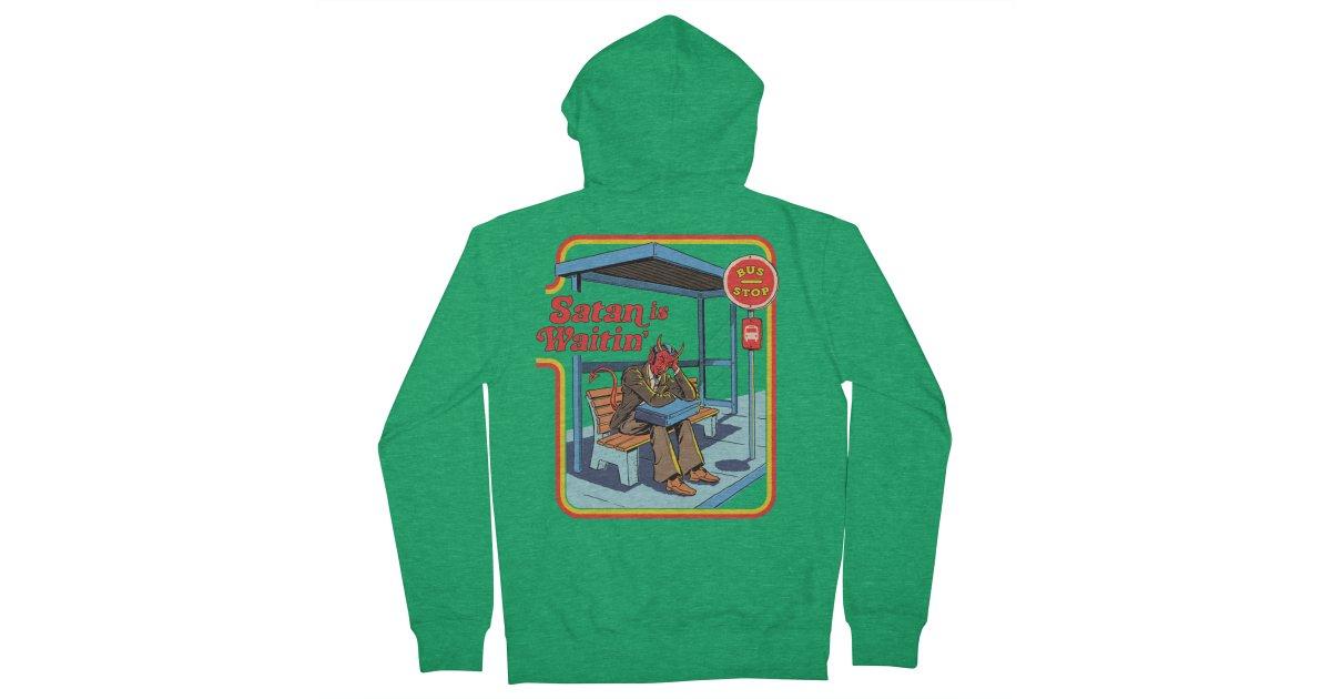 Satan is Waiting Bus Mens Hoodie Sweatshirts Sweater Coat Hooded Pullover Unisex